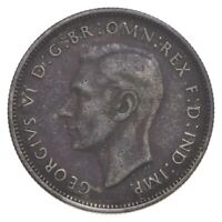 SILVER ROUGHLY SIZE OF QUARTER 1940 AUSTRALIA 1 FLORIN WORLD
