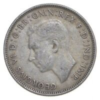 SILVER ROUGHLY SIZE OF QUARTER 1941 AUSTRALIA 1 FLORIN WORLD