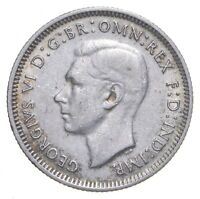 SILVER ROUGHLY SIZE OF QUARTER 1941 AUSTRALIA 1 SHILLING WOR