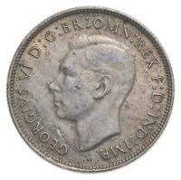 SILVER ROUGHLY SIZE OF QUARTER 1943 AUSTRALIA 1 FLORIN WORLD