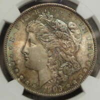 1903-O MORGAN DOLLAR, TONED GEM BU NGC MINT STATE 65, KEY DATE,  WITH COLOR