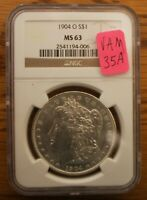 1904 O NCG MINT STATE 63 VAM 35A  DBLD LFT REV, COUNTER CLASH, DOUBLING, CLSH OBV IN & S