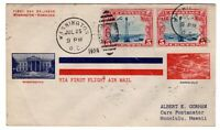 C11 PAIR 1928 FIRST DAY COVER WASHINGTON DC UNLISTED  ALBERT