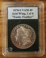 1878 S VAM 49, ACID TREATED WING FEATHER & LOWER EAGLE, 1 OF 4
