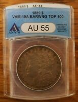 1889 P ANACS AU55 VAM19A   DBLD REV, BAR WING, DOUBLED 89   TOP 100 & WOW LISTS