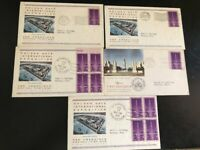 US 17 1929 1939 CACHETED FIRST DAY COVERS INCL SC 852 X 5