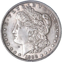 1888 MORGAN SILVER DOLLAR ABOUT UNCIRCULATED AU SEE PICS J956