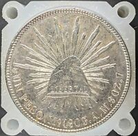 MEXICO FIRST REPUBLIC 8 REALES 1903 MO A.M.