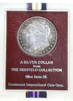 MINT STATE 63 1892-CC MORGAN SILVER DOLLAR - REDFIELD HOARD - GRADED NGC 4030