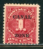 CANAL ZONE MH POSTAGE DUE SELECTIONS: SCOTT J12 1C CARMINE R