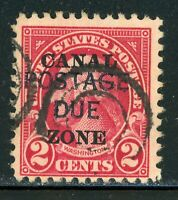 CANAL ZONE USED POSTAGE DUE SELECTIONS: SCOTT J16 2C CARMINE