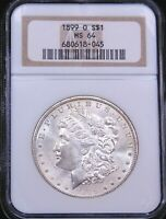 1899-O MORGAN SILVER DOLLAR NGC MINT STATE 64 ORIGINAL WHITE FROSTY HINT OF GOLD PQ G657
