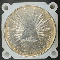 MEXICO FIRST REPUBLIC 8 REALES 1901 MO A.M.