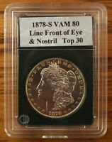 1878S VAM 80A  ENGRD WING F, LINES IN EAGLE, DBLD E-PL-R-B  POLISHED REVERSE