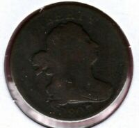 1807 DRAPED BUST HALF CENT GRADES GOOD   EVEN COLOR TO IT C6514