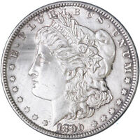 1890 MORGAN SILVER DOLLAR UNCIRCULATED US MINT COIN HARSH CLEANING SEE PICS H255