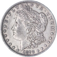 1878 MORGAN SILVER DOLLAR 7 TAIL FEATHERS REVERSE OF 79 EXTRA FINE SEE PICS L024