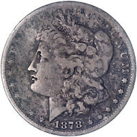 1878 MORGAN SILVER DOLLAR 7 TAIL FEATHERS REVERSE OF 79 GOOD GD SEE PICS L022
