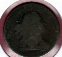 1807 CIRCULATED DRAPPED BUST HALF CENT  AU1246
