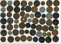 65 OLD BRITAIN & EX COLONY COINS  1862 1951  MANY COLLECTIBL