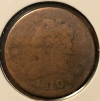1810/09 CLASSIC HEAD LARGE CENT GRADES ALMOST GOOD READ PLEASE C4967