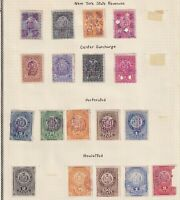 40  NEW YORK STOCK TRANSFER STATE REVENUE TAX STAMPS OLD TI