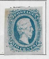 1 CONFEDERATE STATES OF UNITED STATES STAMP FROM OLD ANTIQUE
