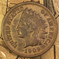 1909 S INDIAN HEAD CENT PENNY  KEY DATE