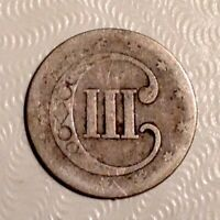 1853   US THREE 3 CENTS SILVER - FREE US SHIPPING