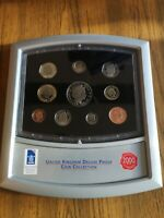 2000 UNITED KINGDOM 10 COIN PROOF SET COLLECTION INC 5 CROWN
