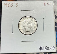 1900-S U.S. SILVER BARBER DIME  UNCIRCULATED CONDITION C4819