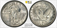1930 25C STANDING LIBERTY QUARTER PCGS MINT STATE 66 UNCIRCULATED CAC APPROVED