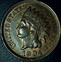 1904 INDIAN HEAD CENT - RED BROWN UNCIRCULATED - SHIPS FREE