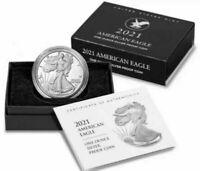 2021-W AMERICAN SILVER EAGLE TYPE 2 ONE OUNCE PROOF COIN 21EAN