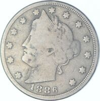 1886 LIBERTY V NICKEL   CHARLES COIN COLLECTION  575