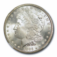 1885 CC $1 MORGAN DOLLAR NGC MINT STATE 65 UNCIRCULATED CARSON CITY BLAST WHITE  CER