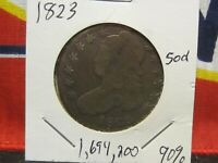 CAPPED BUST HALF DOLLAR 50 CENT YOU GRADE CIRCULATED 1823 P
