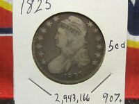 CAPPED BUST HALF DOLLAR 50 CENT YOU GRADE CIRCULATED 1925 P