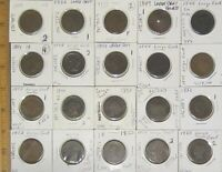 LOT OF 20 BRAIDED HAIR LARGE CENT COINS YOU GRADE 1854   185