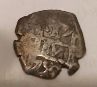 1756 BOLIVIA REALE REAL REALES SILVER COB COIN POTOSI MINT