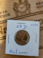 2009 D LINCOLN CENT PENNY FORMATIVE YEARS RAIL LOG SPLITTER