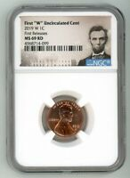 2019 W LINCOLN CENT 1C UNCIRCULATED NGC MS 69 RD FIRST RELEA