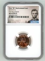 2019 W LINCOLN CENT 1C UNCIRCULATED NGC MS 69 RD PL FIRST DA