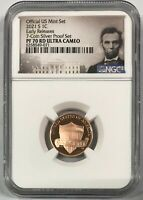 2021 S LINCOLN CENT 1C NGC PF 70 RD ULTRA CAMEO EARLY RELEAS