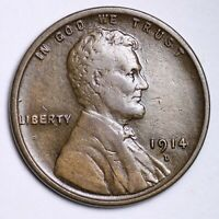 XF 1914 D LINCOLN WHEAT CENT PENNY