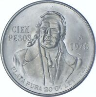 BETTER DATE   1978 MEXICO 100 PESOS   SILVER  083