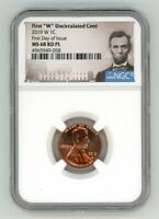 2019 W LINCOLN CENT 1C UNCIRCULATED NGC MS 68 RD PL FIRST DA