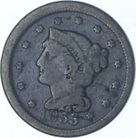 1853 BRAIDED HAIR LARGE CENT CHARLES COIN COLLECTION  570