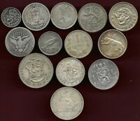 WORLD LOT OF 13 SILVER COINS