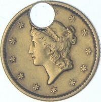 1852 LIBERTY HEAD GOLD DOLLAR CHARLES COIN COLLECTION  622